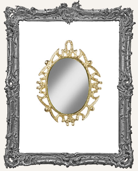 Miniature Oval Mirror - 1-7/8 Inches