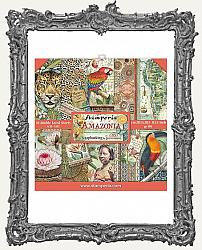 Stamperia Double-Sided Paper Pad 8X8 - Amazonia