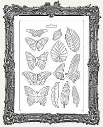 Stamperia A4 Soft Maxi Mould - Amazonia Leaves and Butterflies