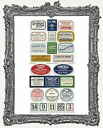 7 Gypsies Vintage Apothecary Labels - 48 Stickers