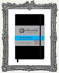 Piccadilly Soft Cover Essential Notebook - Ruled - Small German Journal - Black