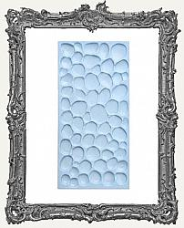Small Blue Silicone Texture Mat Mold - Pebbles