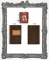 7 Gypsies Vintage Look Chipboard Book Covers - Red Label