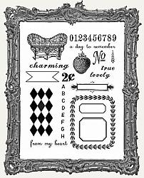 7 Gypsies Trousseau Clear Stamp Set - 18 Pieces