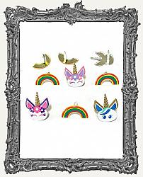 Unicorn and Rainbow Brads - 12 Piece