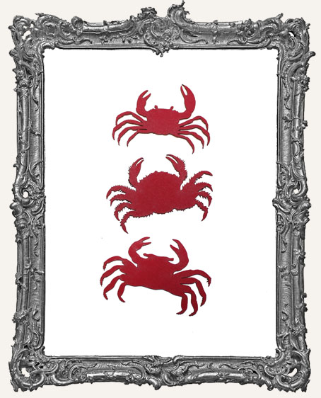 Limited Edition Red Crab Cut-Outs - 3 Pieces
