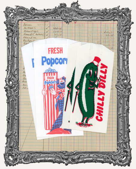 Vintage Circus Ephemera Treat Bags - Set of 4