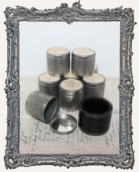 Vintage Filmstrip With Metal Canister