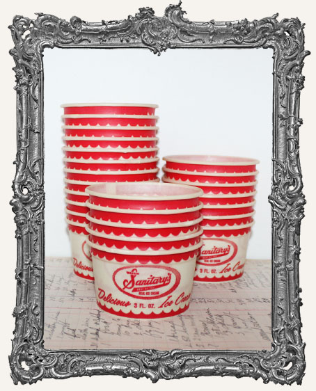 Vintage Ice Cream Cups - Set of 5