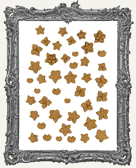 Chipboard Blossom Cut-Outs - 48 Pieces