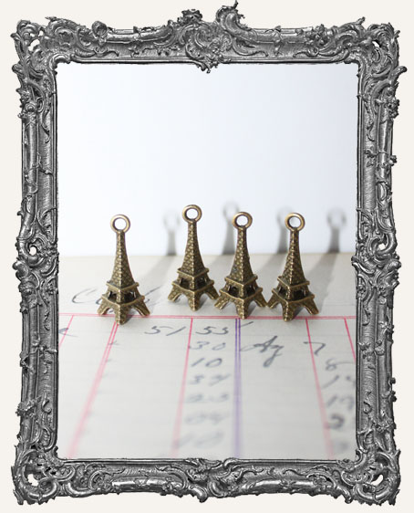 Antique Brass Eiffel Tower Charms - Set of 4