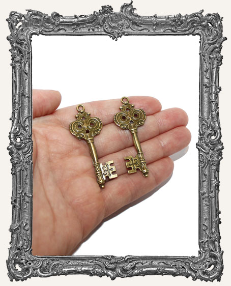Medium Regal Key Charms - Set of 2