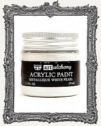 Finnabair - Art Alchemy - Metallique Acrylic Paint - White Pearl