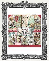 Stamperia Double-Sided Paper Pad 12X12 - Alice in Wonderland