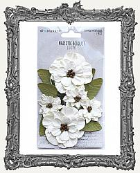 49 And Market Majestic Bouquet Paper Flowers 7 Pieces - Ivory