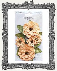 49 And Market Majestic Bouquet Paper Flowers 7 Pieces - Mango