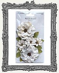 49 And Market Majestic Bouquet Paper Flowers 7 Pieces - Marble