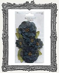 49 And Market Majestic Bouquet Paper Flowers 7 Pieces - Midnight