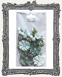 49 And Market Royal Spray Paper Flowers 15 Pieces - Ocean Jade