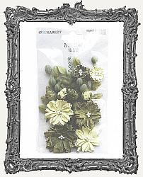 49 And Market Royal Spray Paper Flowers 15 Pieces - Olive