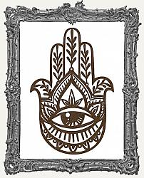 Mixed Media Creative Surface Board - Layered Ornate Hamsa Hand