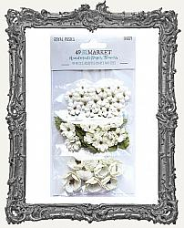 49 And Market Royal Posies Paper Flowers 49 Pieces - Ivory