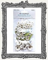 49 And Market Royal Posies Paper Flowers 49 Pieces - Marble
