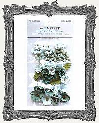 49 And Market Royal Posies Paper Flowers 49 Pieces - Ocean Jade