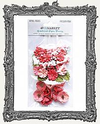 49 And Market Royal Posies Paper Flowers 49 Pieces - Passion Pink