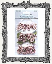 49 And Market Royal Posies Paper Flowers 49 Pieces - Orchid