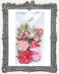 49 And Market Royal Spray Paper Flowers 15 Pieces - Passion Pink