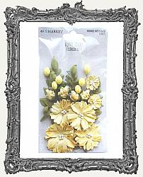 49 And Market Royal Spray Paper Flowers 15 Pieces - Sunshine