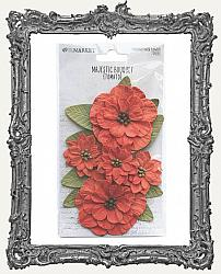 49 And Market Majestic Bouquet Paper Flowers 7 Pieces - Tomato