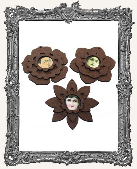 Fairy Bloom Flower Ornaments - Set of 3