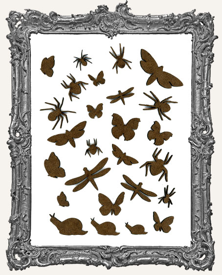 Garden Insect Cut-Outs - 26 Pieces
