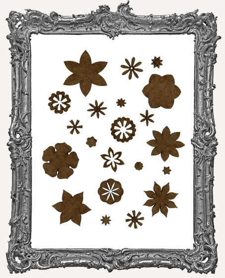 Large Fairy Bloom Flower Cut-Outs - 18 Pieces