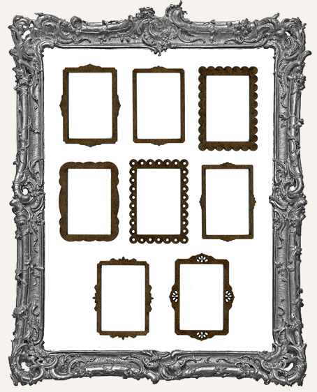 Ornate Mini Frame Cut-Outs - 8 Pieces