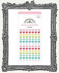 Doodlebug Shape Sprinkles Adhesive Glossy Enamel Shapes - Tiny Hearts