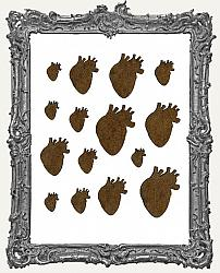 Anatomical Heart Cut-Outs - 15 Pieces