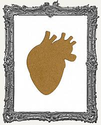 Chipboard Anatomical Heart Tags - Set of 3