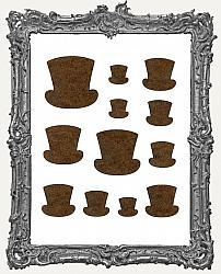 Steampunk Top Hat Cut-Outs - 12 Pieces
