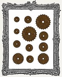 Steampunk Saw Blade Cut-Outs - 12 Pieces