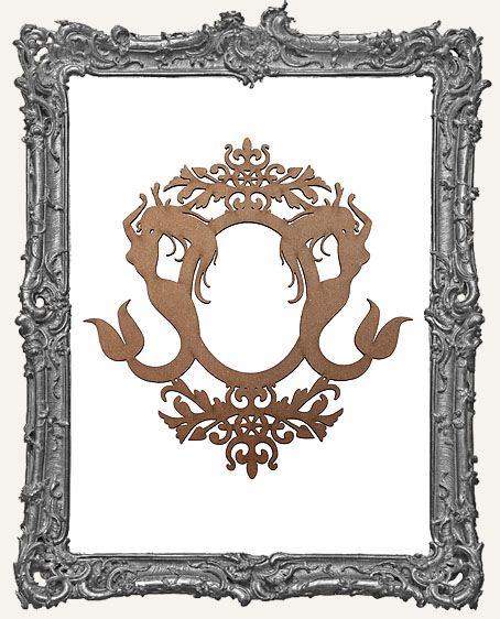 Chipboard Ornate Mermaid Frame