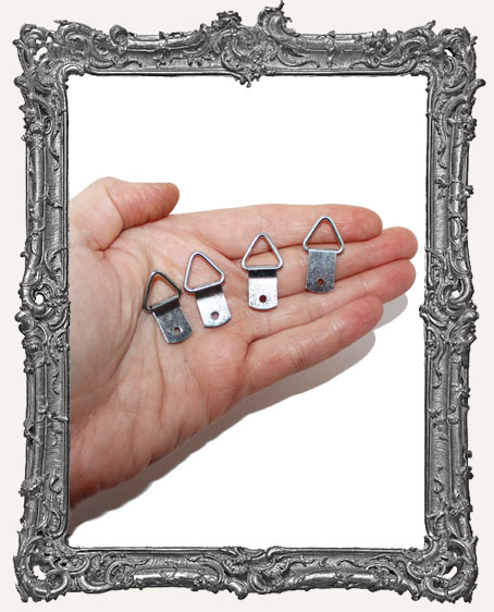 The Perfect Glue-On Artwork Hanger - Silver - Set of 4