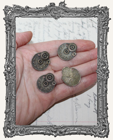 Antique Brass SMALL Steampunk Charms - Set of 2