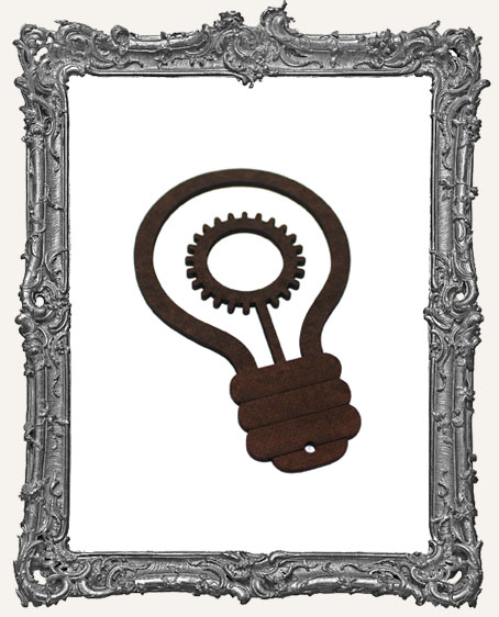Layered Masonite Steampunk Light Bulb Ornament - Style 2