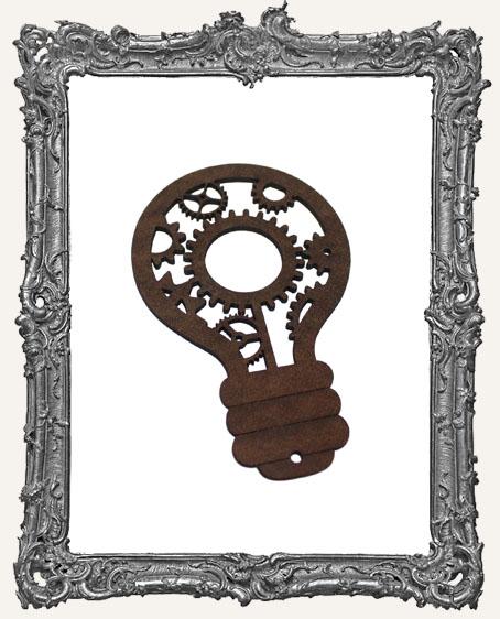 Layered Masonite Steampunk Light Bulb Ornament - Style 3