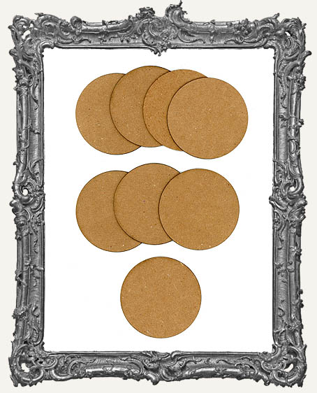 Bulk Chipboard Artist Trading COIN Bases Set of 8