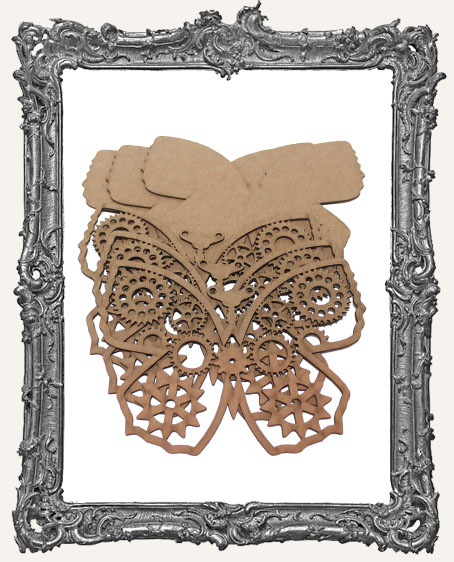 Chipboard Steampunk Butterflies - Set of 3