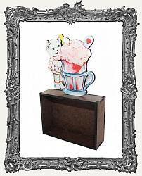 Sweet Vintage Kitty ATC Shrine Kit - Style 1 - Ice Cream Float